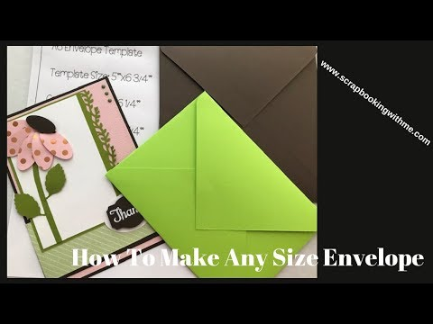How To Make Any Size Envelope & Free Templates