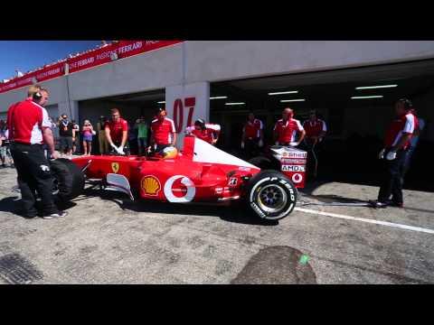 Démarrage du V10 de la Ferrari F1