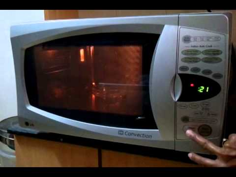 Lg Microwave Oven Convection Model Mc767w Ws Youtube