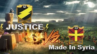 JUSTICE vs Made in Syria | Clash of Clans