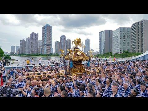 [ 4K60P ] 江戸三大祭り:深川八幡祭り・神輿連合渡御・富岡八幡宮例大祭 2017 Fukagawa Hachiman Festival
