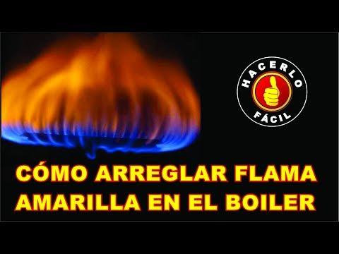 Flama Amarilla En Boiler - Cómo Arreglar La Flama En El Calentador  Hacerlo Fácil