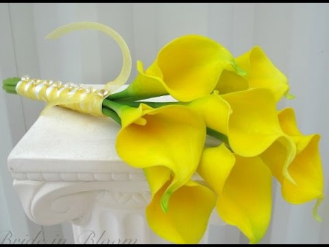 yellow calla lily wedding bouquet yellow calla wedding bouquet 1514