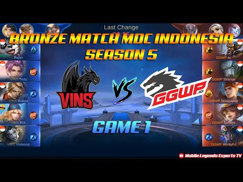 Vins Esport VS GGWP.id - Bronze Match GAME 1 MDC SERIES Indonesia Season 5