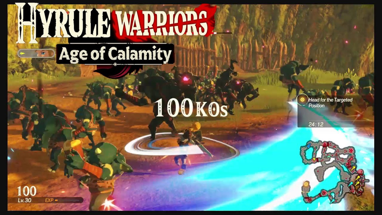 Hyrule Warriors Age Of Calamity Link Master Sword Gameplay Youtube
