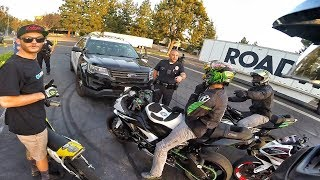 SUNDAY STUNT DAY GETS BUSTED BY THE COPS!