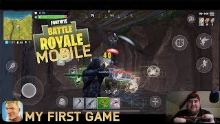 FORTNITE MOBILE IOS/ANDROID MY FIRST GAME #FORTNITEMOBILE HOW TO DOWNLOAD & PLAY INVITE EVENT