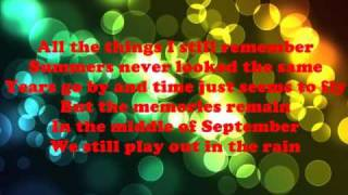 September-Chris Daughtry LYRICS
