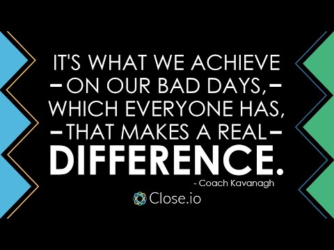 Sales motivation quote: It's what we achieve on our bad days, which everyone has ...