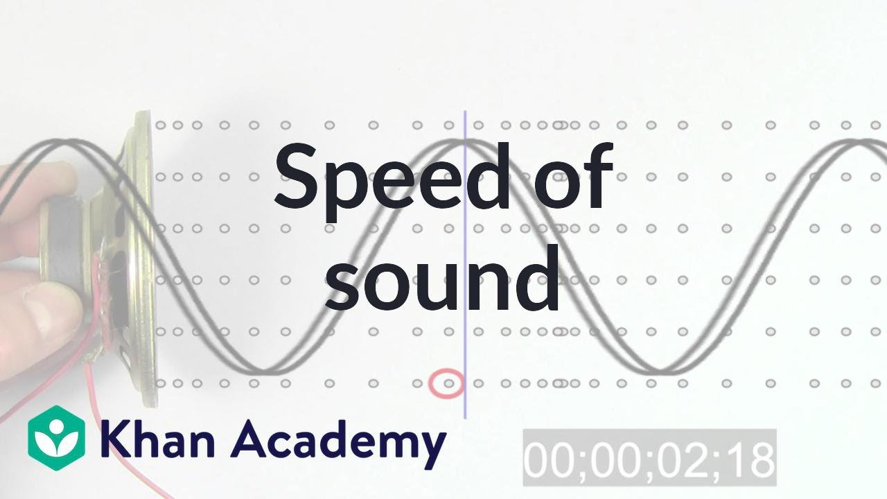 Speed of Sound (video) | Waves and sound | Khan Academy