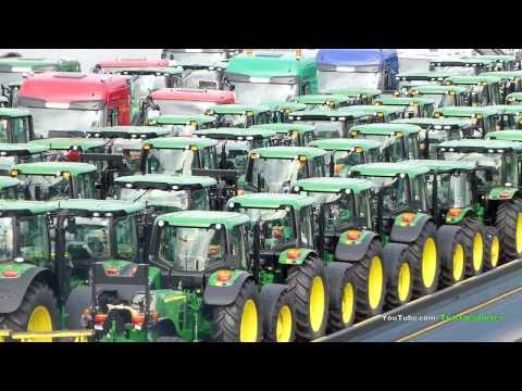 Inland waterway transport of John Deere 6R, 7R, 8R and 9R Tractors