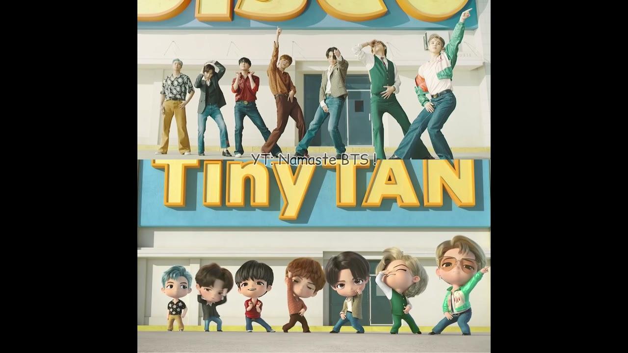 BTS Dynamite Real vs TinyTAN #shorts #BTSshorts #dynamite #BTS #TinyTAN