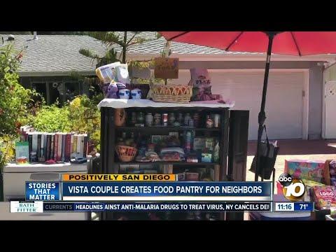 Vista Couple Creates Food Pantry For Neighbors