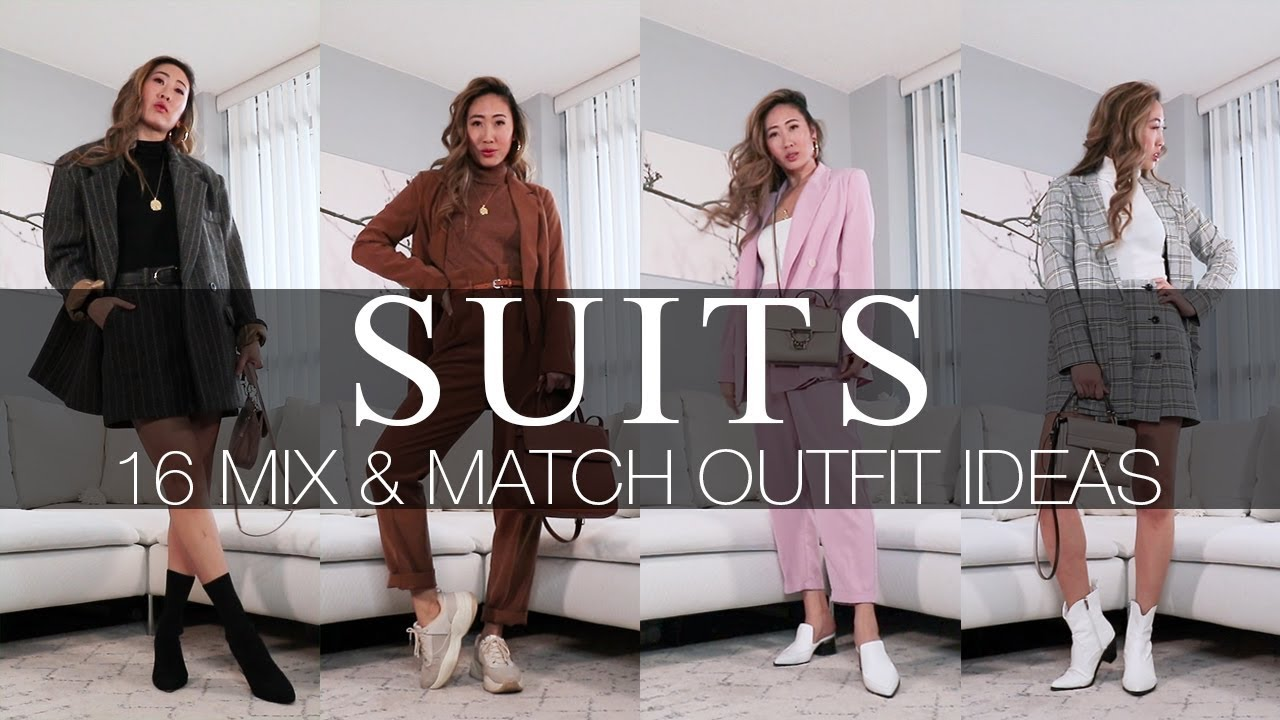 [VIDEO] - SUITS | 16 MIX & MATCH OUTFIT IDEAS 8