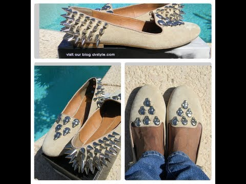 DIY Skull Studded & Spiked Loafers! Jeffrey Campbell Meets Unif!