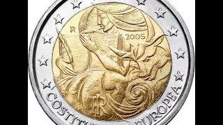 Обзор монеты номиналом 2 Euro 2005 года выпуска (Италия)!!!(Монета 2 евро 2005 года выпуска посвященная годовщине