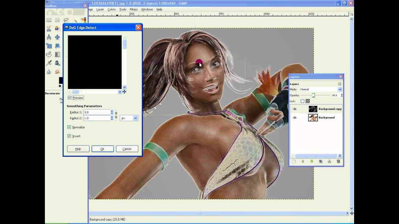 Line Drawing Gimp : How to make a picture into drawing sketch with gimp youtube