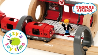 Thomas and Friends | Thomas Train and Brio Metro Railway with Playmobil | Fun Toy Trains for Kids(Hi guys! We have a new Thomas and Friends play table video! Today on Izzy's Toy Time we're playing with Thomas Train and our new Brio Metro Railway ..., 2017-02-14T13:00:03.000Z)