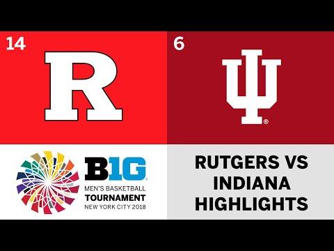 2018 Big Ten Men's Basketball Tournament: Rutgers vs. Indiana