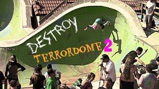 bryce helping destroy the terrordome ii backyard skate event