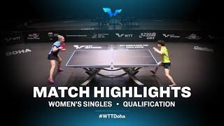 Odo Satsuki vs Yana Noskova | WTT Contender Doha 2021 | Women's Singles | QUAL Highlights