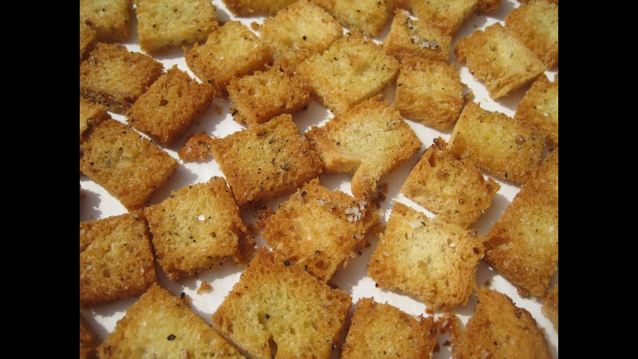 Basic CROUTONS - How to make CROUTONS Recipe - YouTube