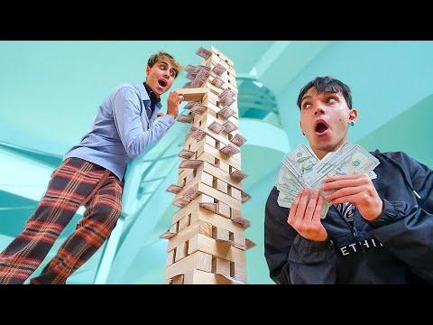 BIGGEST GAME OF MONEY JENGA!