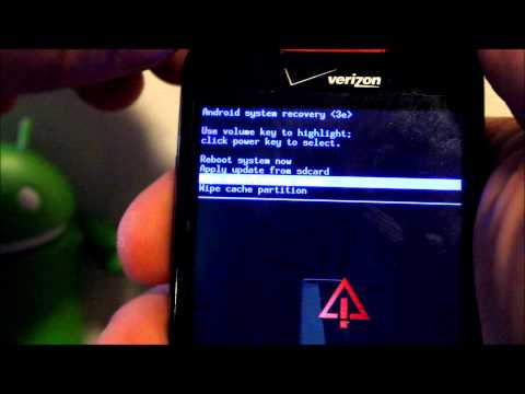 How to enter Hboot and Recovery on the HTC Droid Incredible