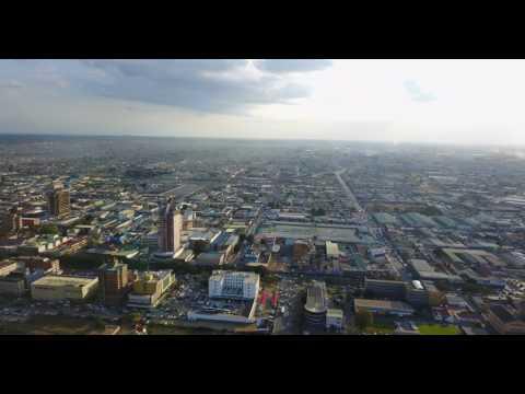 Drone view Lusaka(aerial) 2017