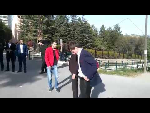 Çankırı ülkü ocakları üniversite birim başkanı Emre AYHAN'ın meslek yuksek okulunda ettirdigi yemin.