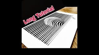 How to draw 3D Ball Optical illusion - 3D trick art on paper - Art Maker Akshay