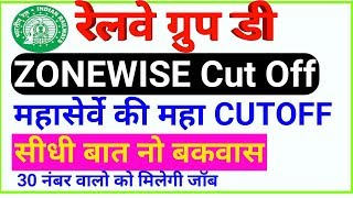 RRB Group D Cut Off Zonewise    Railway Group D Expected Cut off    Group D Cut Off After Answer key