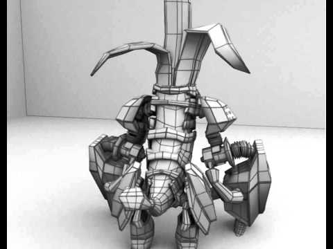 Cyborg Gorilla wireframe model