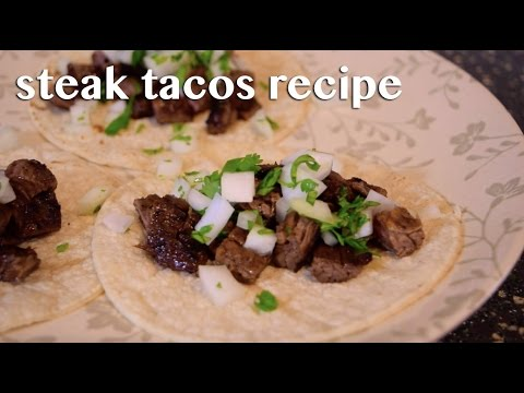 Steak Tacos Recipe: Carne Asada Street Tacos!
