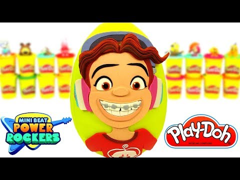 Huevo Sorpresa Gigante de Dolores de Mini Beat Power Rockers de Play Doh