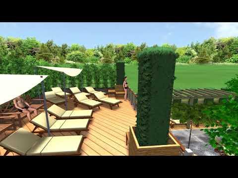 3D Animation - der neue ELIXIA SPA-Garten in Hellersdorf, Design by AMBER Traumgarten