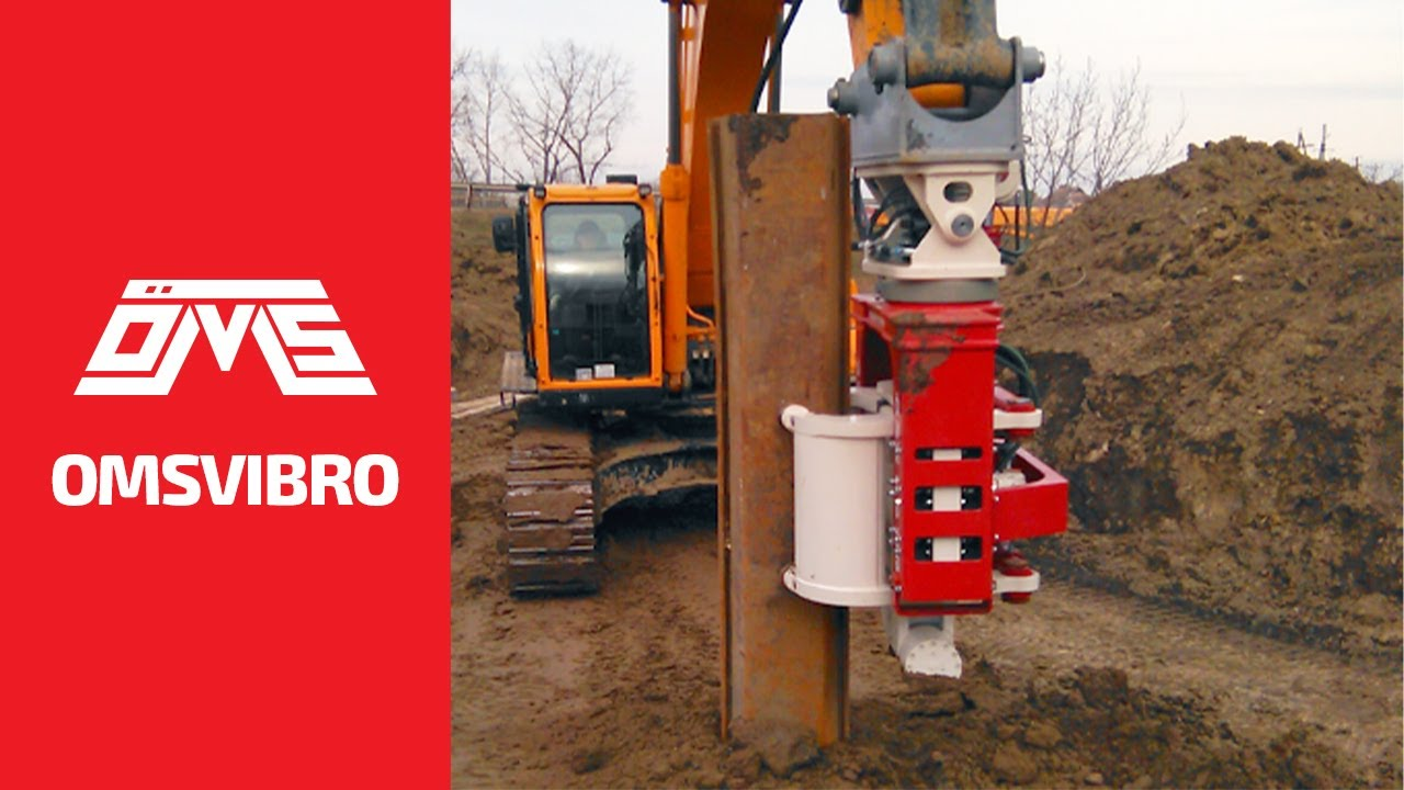 OMS Side Grip Sheet Pile Driver - Excavator Mounted Vibro Hammer