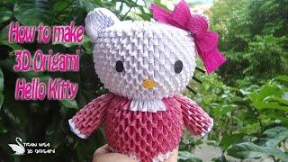 How To Make 3D Origami Hello Kitty | DIY Hello Kitty Tutorials | Handmade Hello Kitty Gift