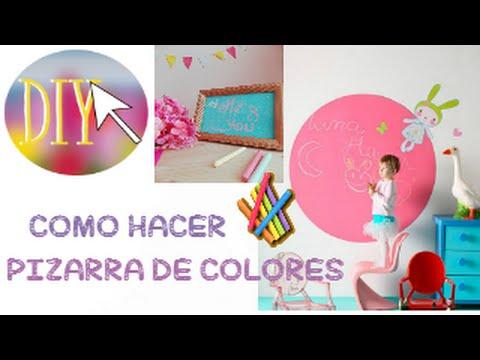 como hacer pintura para pizarra casera de colores chalkboard colorus