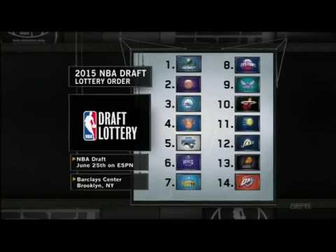 2015 NBA Draft Lottery First Three Pick Announced