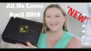 NEW All He Loves April 2019 Men&#39s Lifestyle Subscription Box