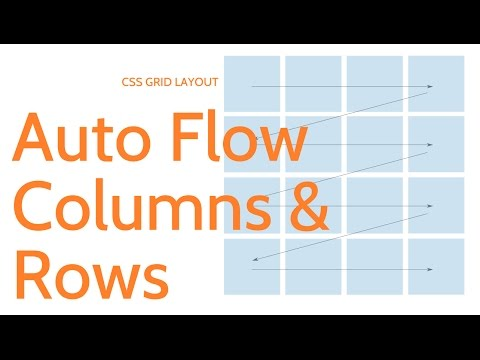 CSS Grid Layout // Auto Flow Rows and Columns