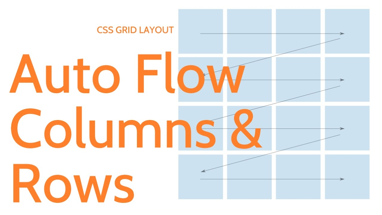 Css Grid Layout Auto Flow Rows And Columns Youtube