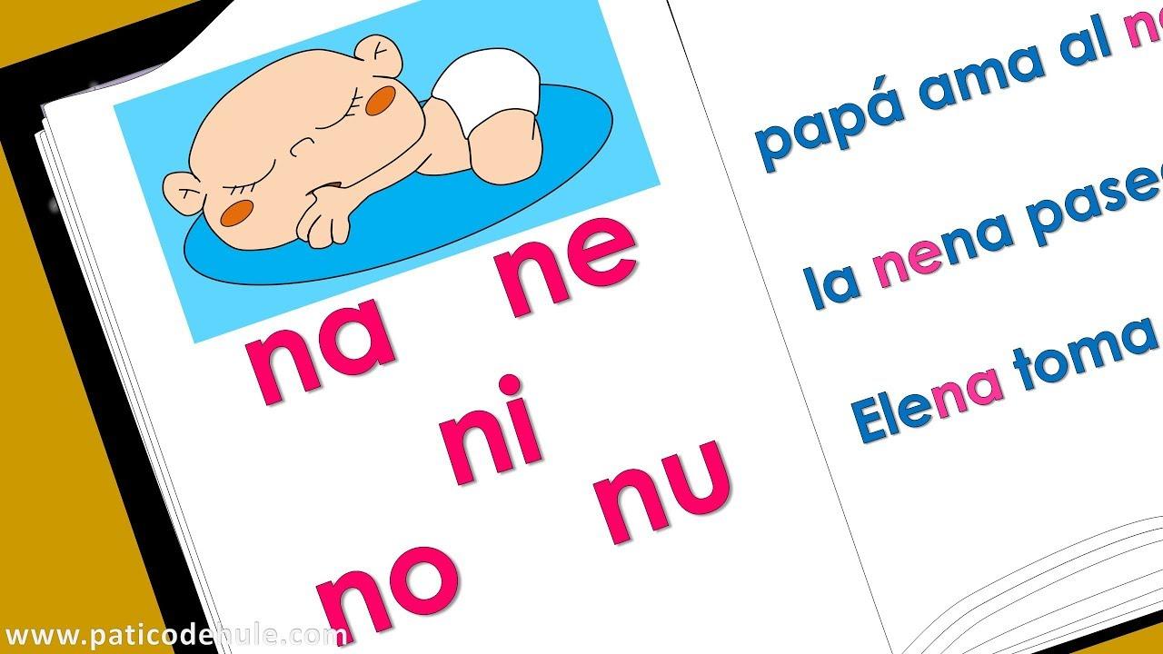 Sílabas Na Ne Ni No Nu Aprende A Leer Palabras Con N Para Niños
