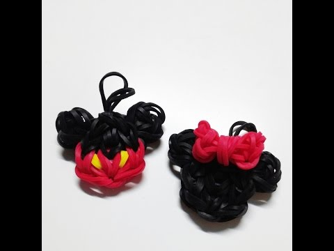NEW Rainbow Loom Mickey & Minnie Mouse Charm Tutorial (Original Design)