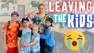 Leaving My Kids with Strangers For An ENTIRE WEEK! || Mommy Monday
