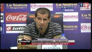 vuelve carlos bueno conferencia de prensa de leandro romagnoli san lorenzo tv