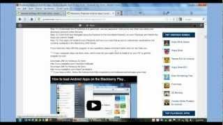 Comment Installer des Applications Android sur le Blackberry Playbook (mise à Jour)