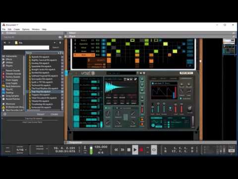 UMPF Club Drums and the DRUM SEQUENCER Player - Reason Tutorial