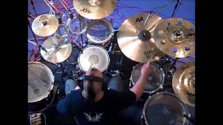 ALAN EMSLIE recording drums for THE JOHN IRVINE BAND -